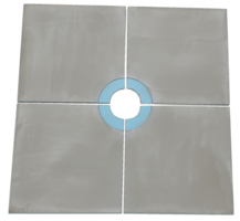 48 x 48 Curbless Tray Shower Kit with 4 Center Drain