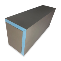 Rectangular premade shower bench blue and gray