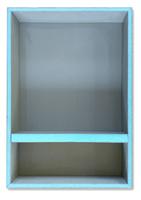 13 x 20 shower niche blue