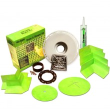 Trugard Drain Kit with Truseal Sealant similar to Schluter Kerdi Drain