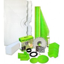 TruSlope Shower Kit with Shower Tray & Curb similar to Schluter Kerdi Shower Kit