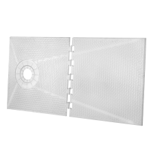"56"" x 60"" TruSlope Pre-formed Shower Tray - OFF-SET"