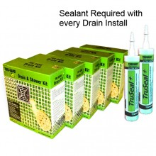 5 Retro-fit Drain Kits WITH or WITHOUT Sealant