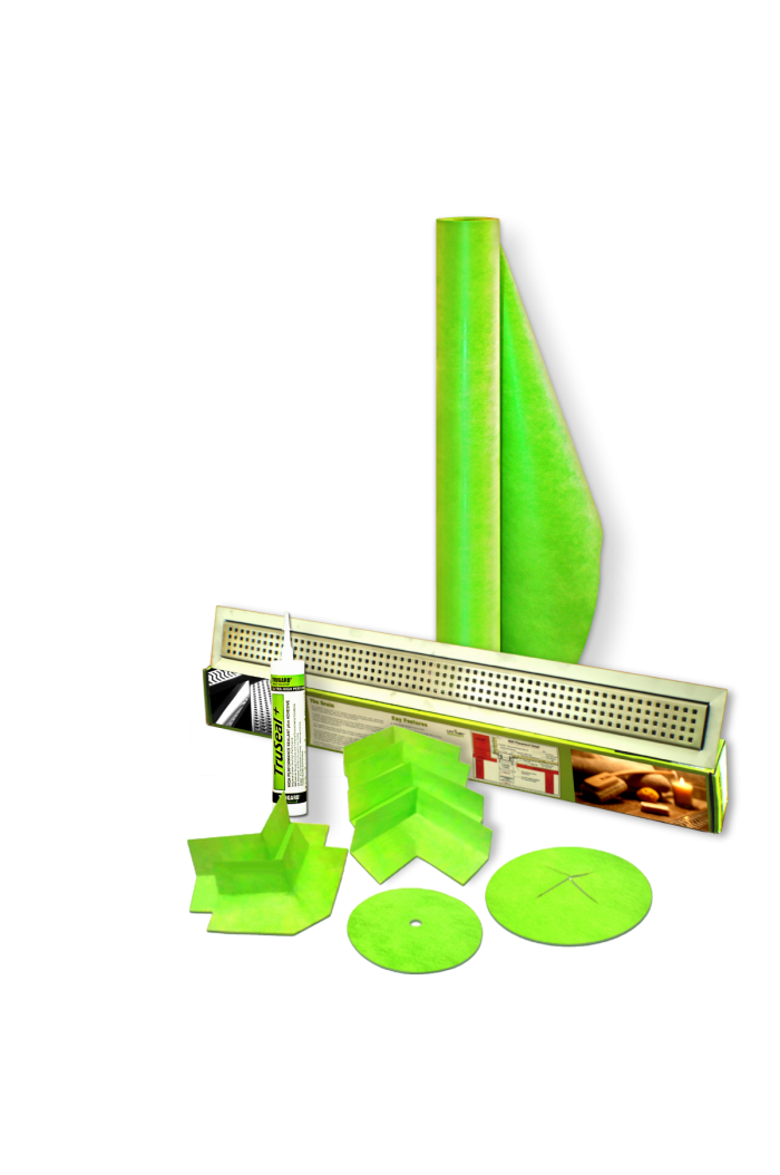 330 Sqft Linear Drain Shower Kit