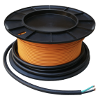 Roll of orange radiant floor heating wire