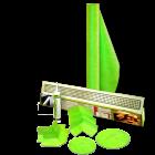 110 Sqft Linear Drain Shower Kit